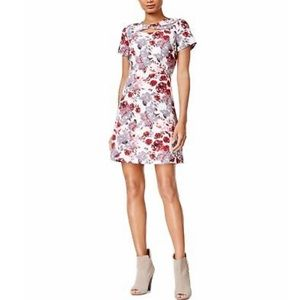 Kensie Cutout Print A-line Dress - cei